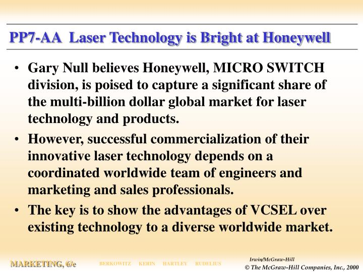 Pp7 aa laser technology is bright at honeywell