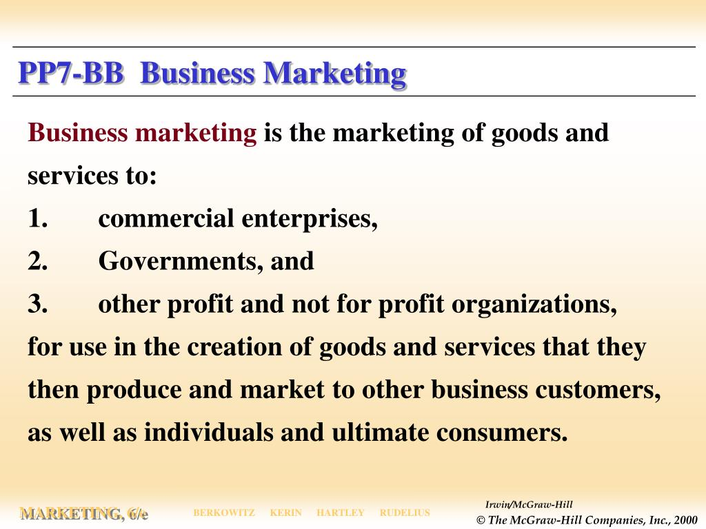 PP7-BB  Business Marketing