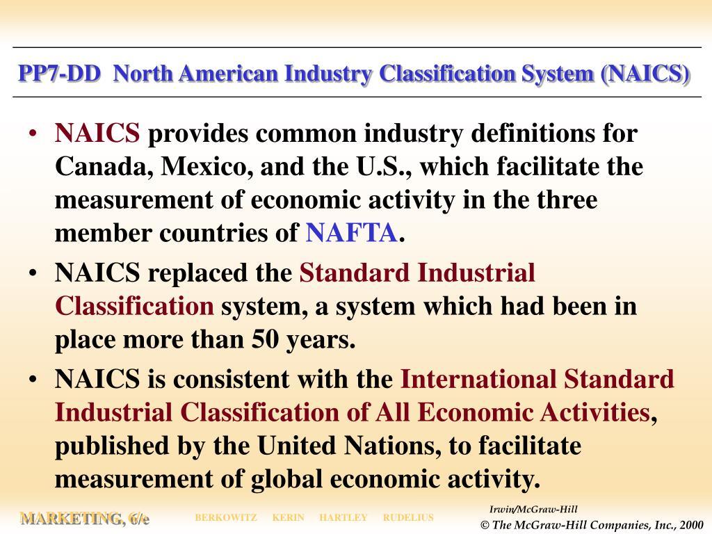PP7-DD  North American Industry Classification System (NAICS)