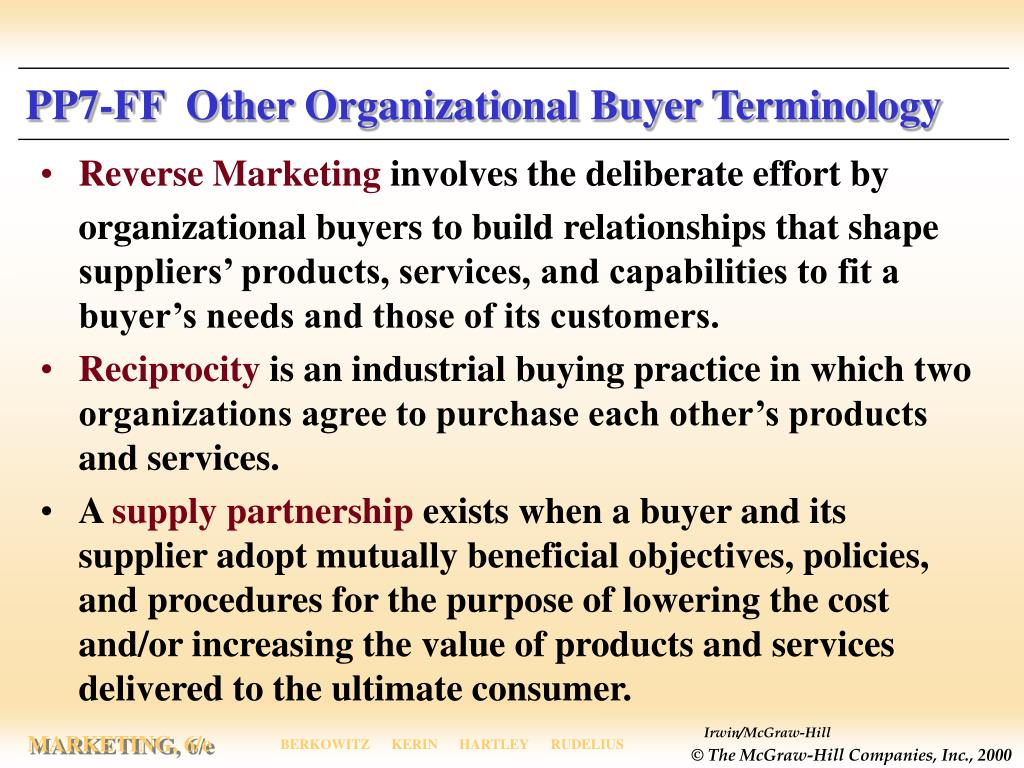 PP7-FF  Other Organizational Buyer Terminology