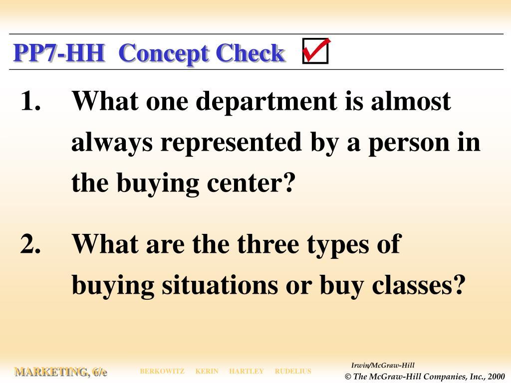 PP7-HH  Concept Check