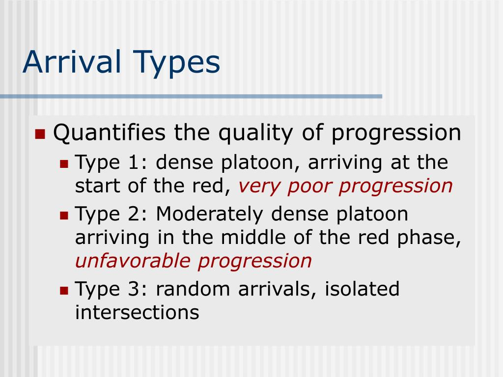 Arrival Types