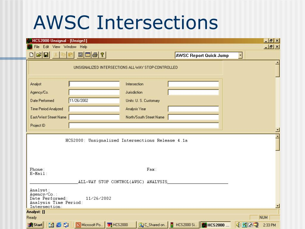 AWSC Intersections
