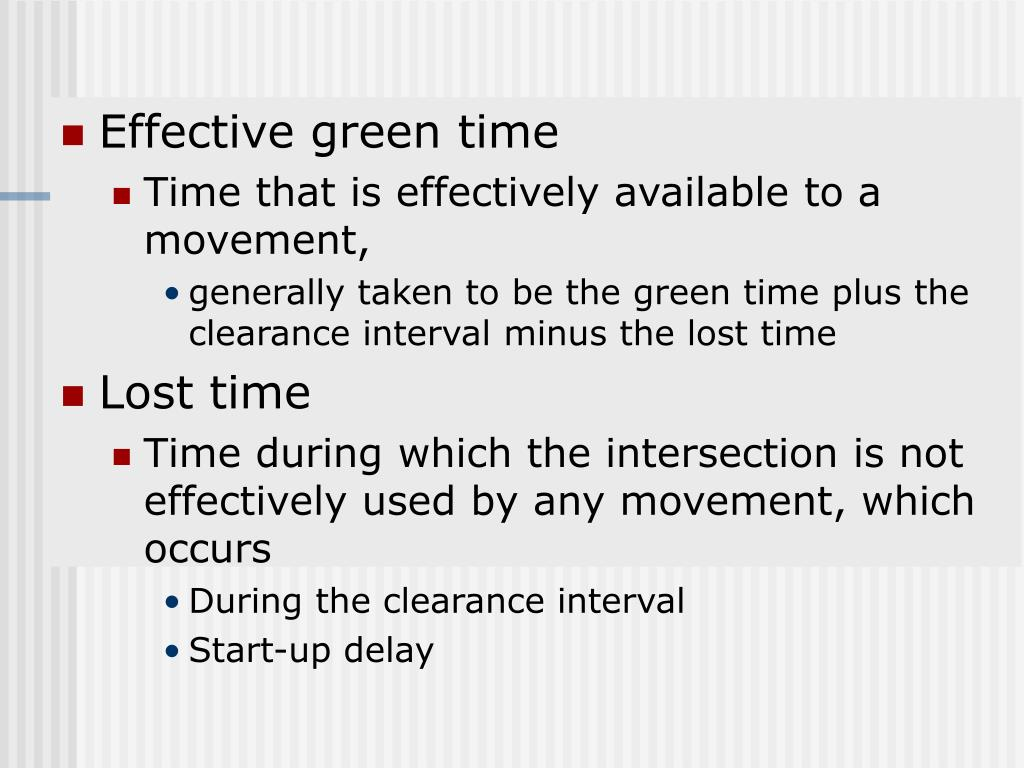 Effective green time
