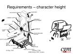 requirements character height19