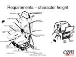 requirements character height20