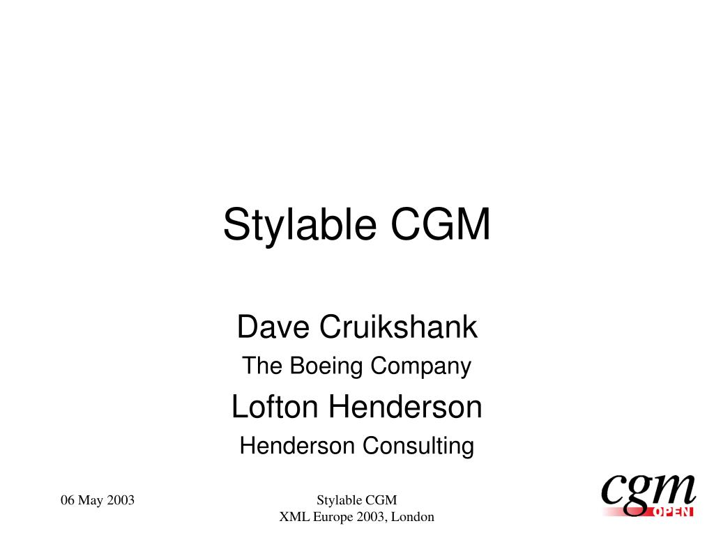 stylable cgm