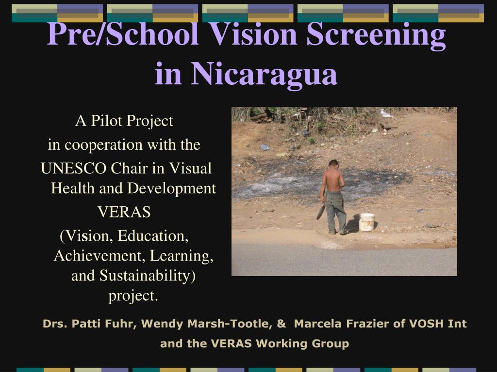 pre school vision screening in nicaragua l.