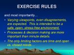 exercise rules8