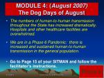 module 4 august 2007 the dog days of august