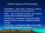 other types of exercises