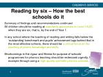 reading by six how the best schools do it6