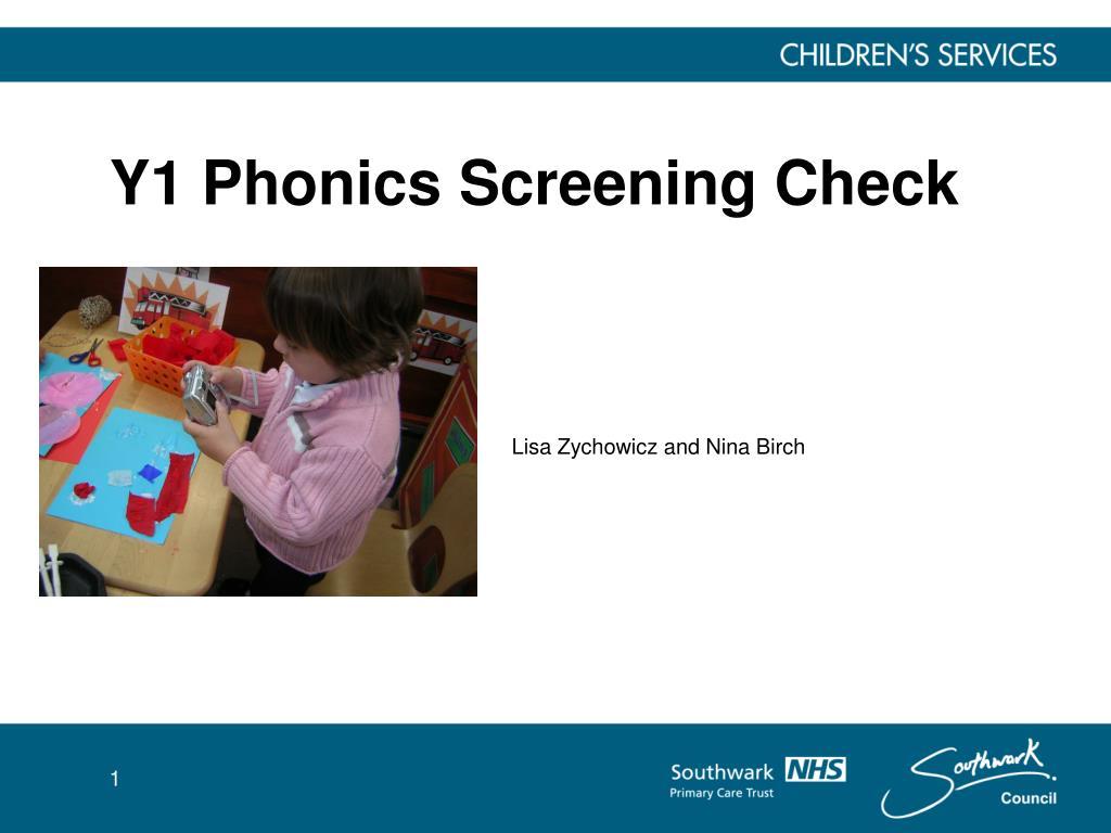 y1 phonics screening check