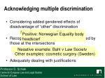 acknowledging multiple discrimination