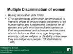multiple discrimination of women