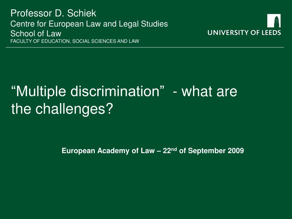 multiple discrimination what are the challenges