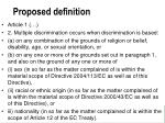 proposed definition