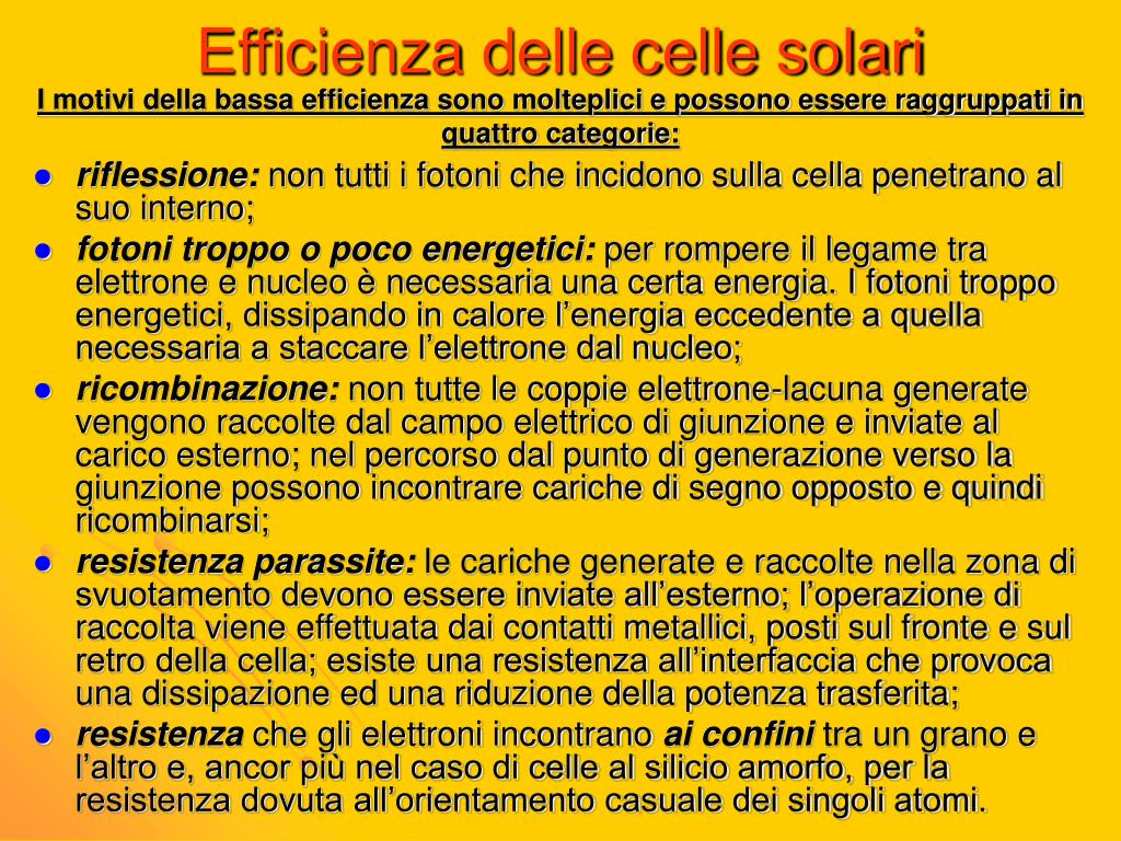 Efficienza delle celle solari