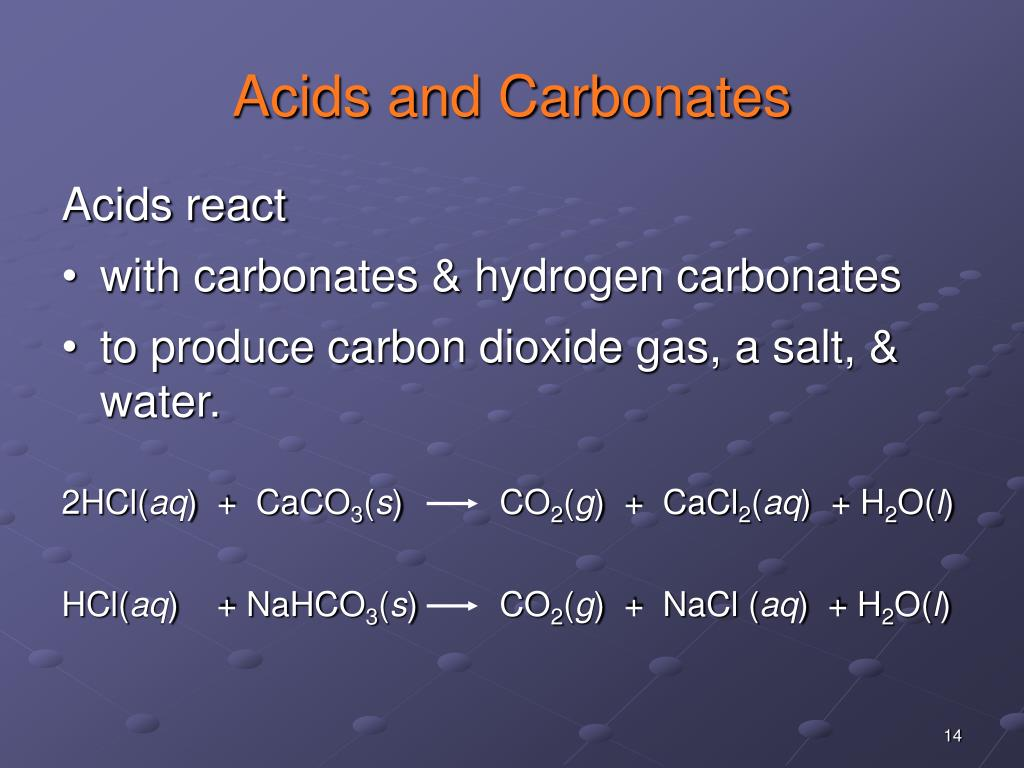 Acids and Carbonates
