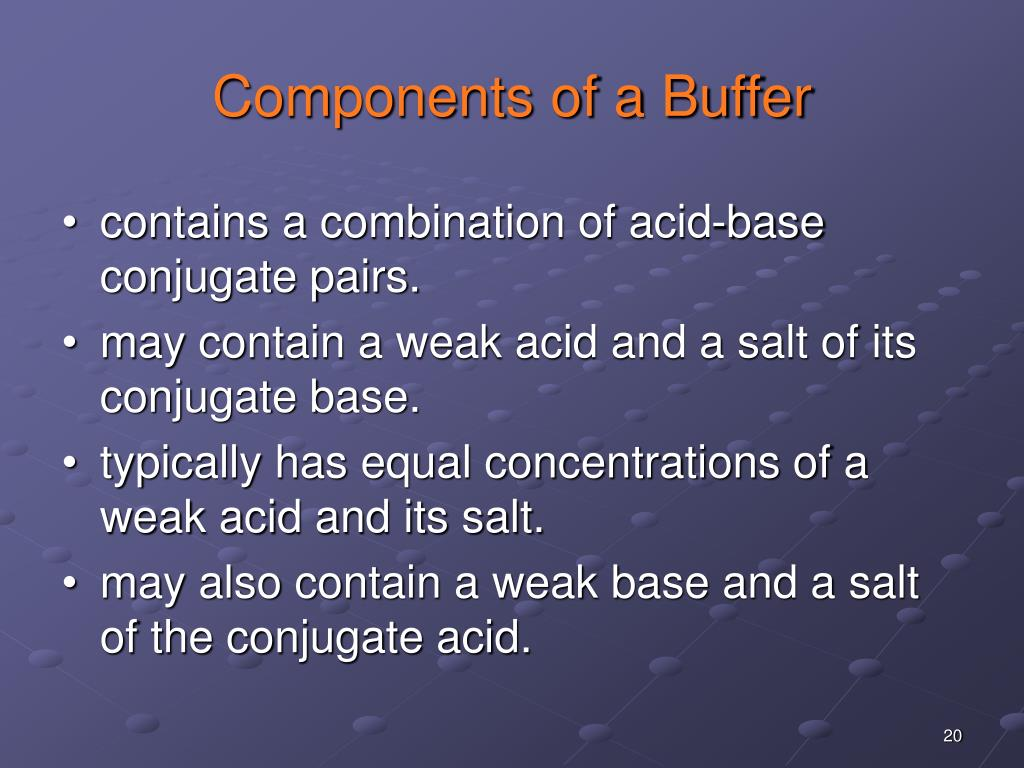 Components of a Buffer