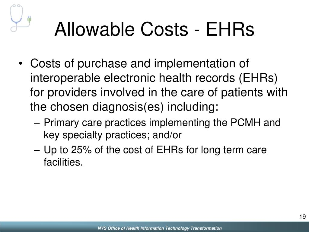 Allowable Costs - EHRs