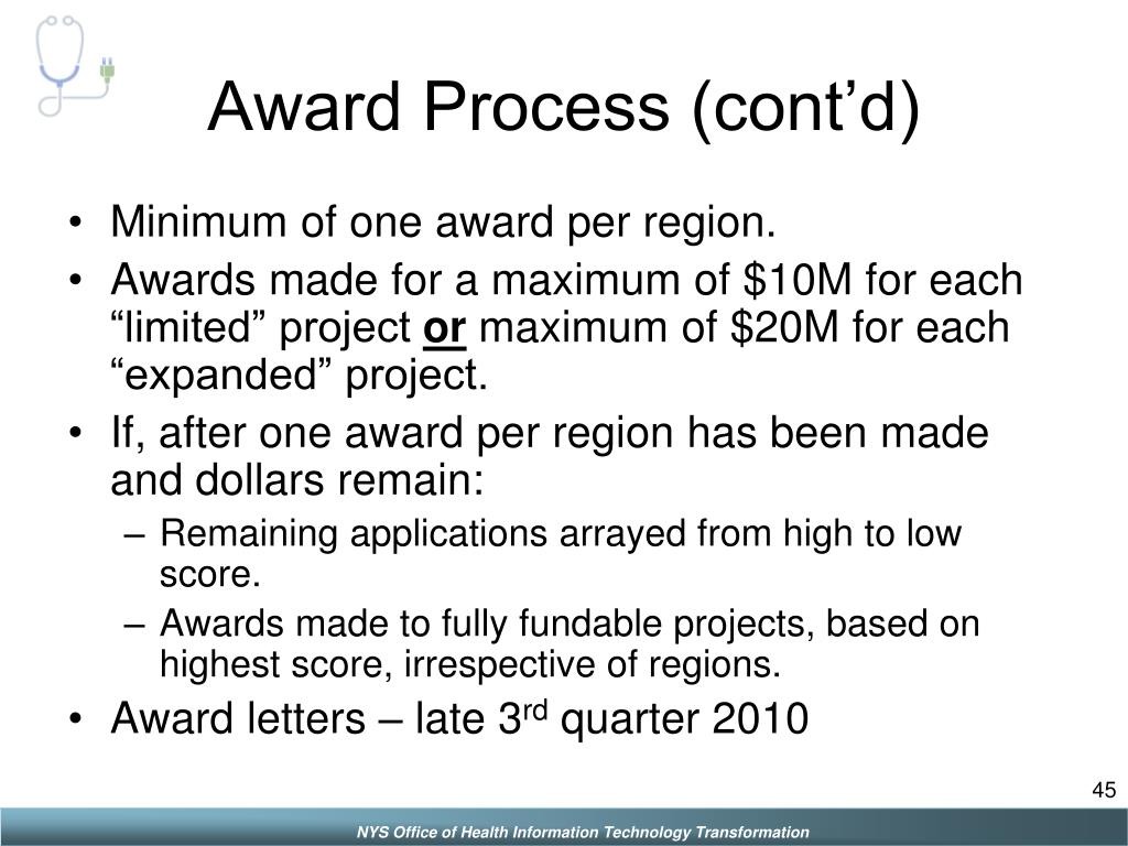 Award Process (cont'd)