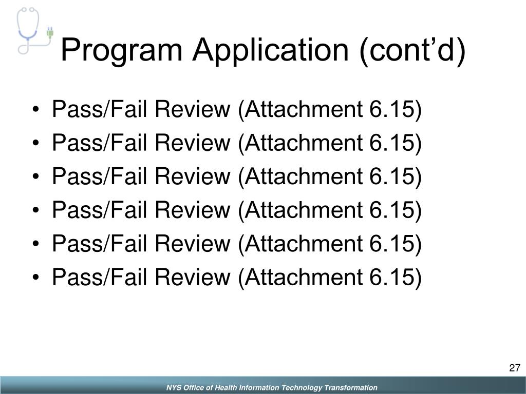 Program Application (cont'd)