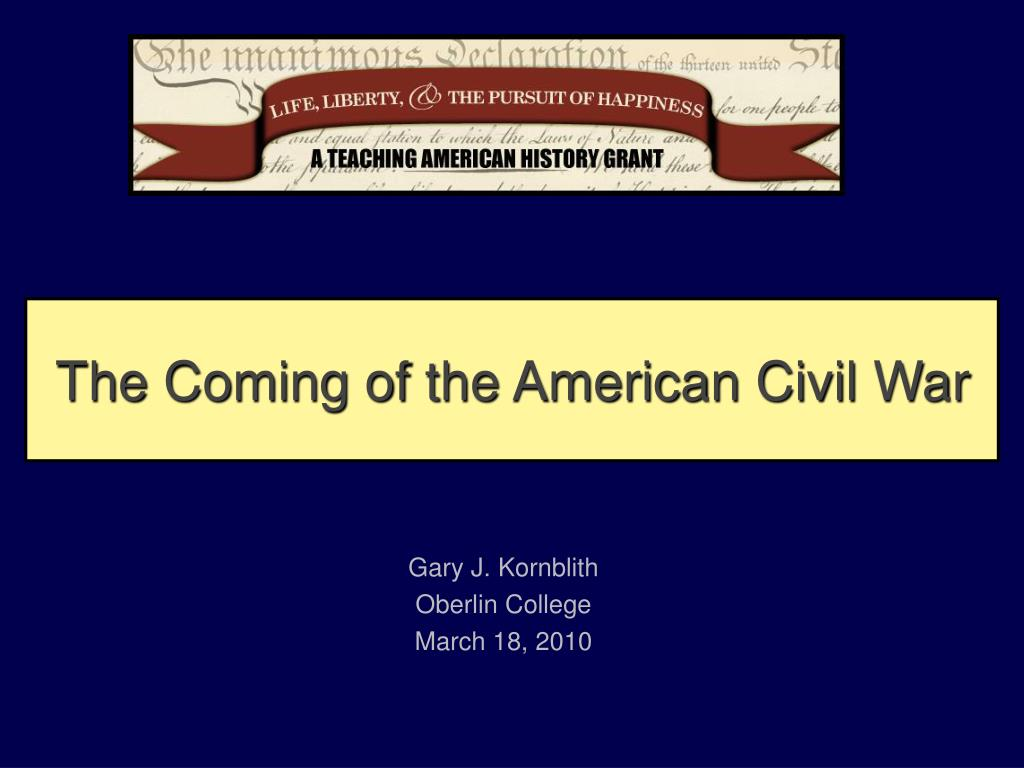 the coming of the american civil war l.