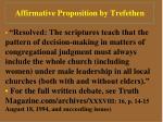affirmative proposition by trefethen