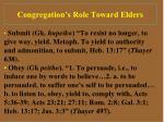 congregation s role toward elders