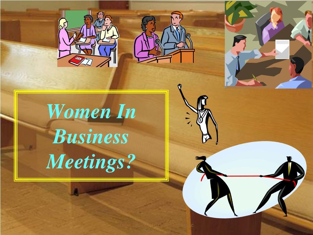 women in business meetings