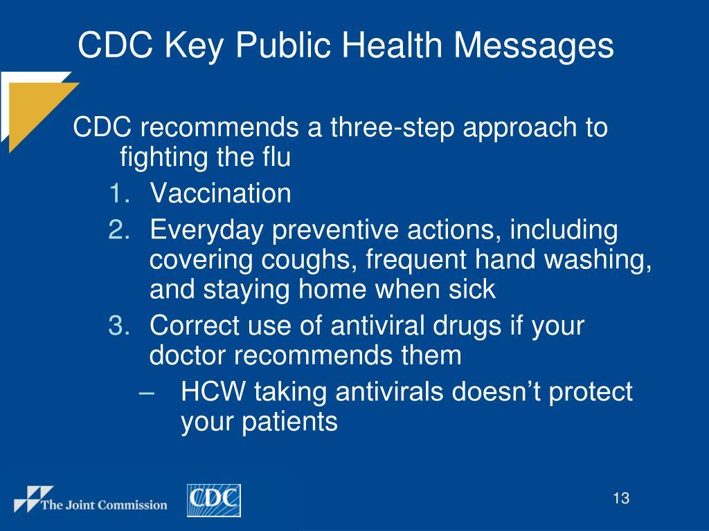 CDC Key Public Health Messages