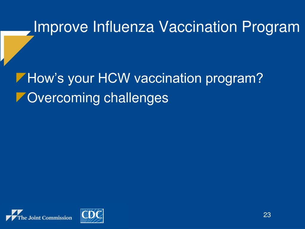 Improve Influenza Vaccination Program