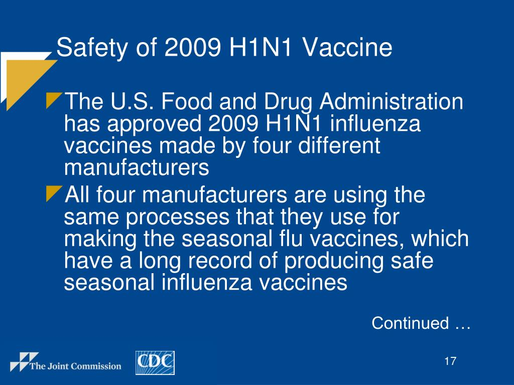Safety of 2009 H1N1 Vaccine