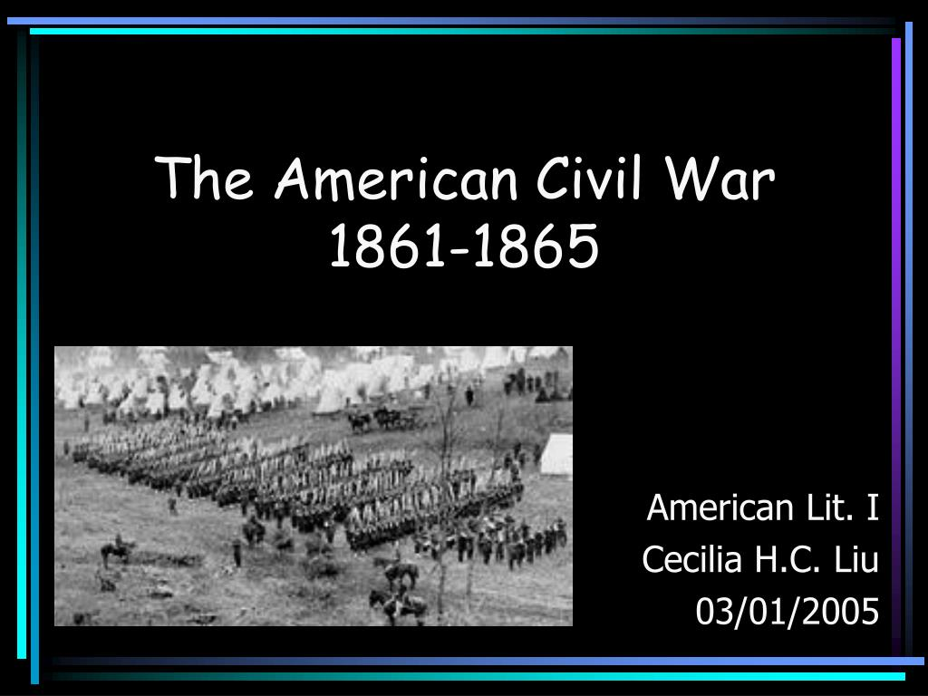 an overview of the american civil war