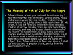 the meaning of 4th of july for the negro