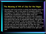 the meaning of 4th of july for the negro10