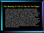 the meaning of 4th of july for the negro11