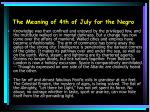 the meaning of 4th of july for the negro12