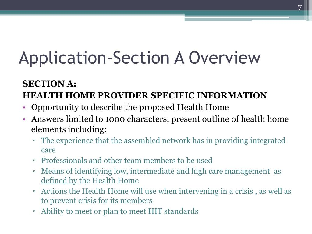 Application-Section A Overview