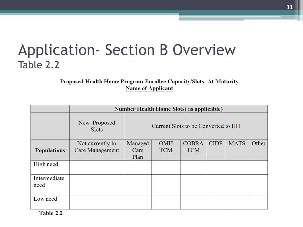 Application- Section B Overview