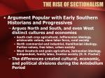the rise of sectionalism