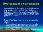 emergence of a new paradigm