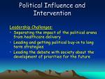 political influence and intervention