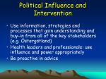 political influence and intervention53