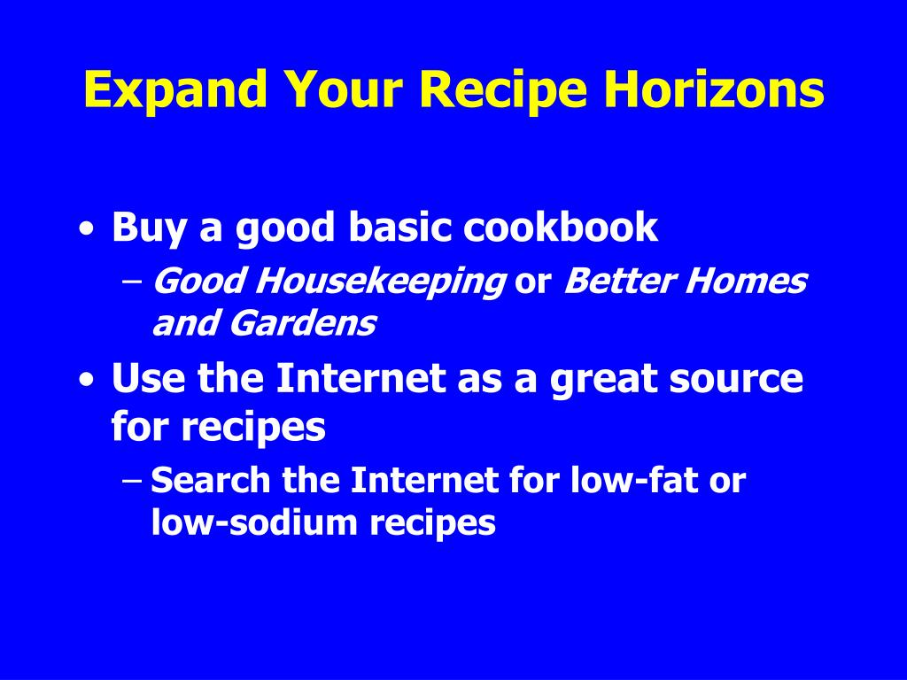 Expand Your Recipe Horizons