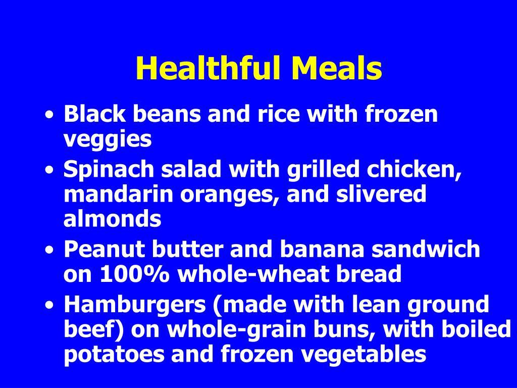 Healthful Meals