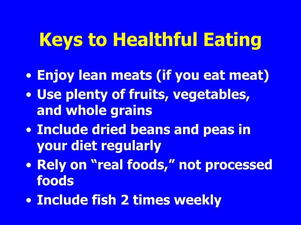 Keys to Healthful Eating