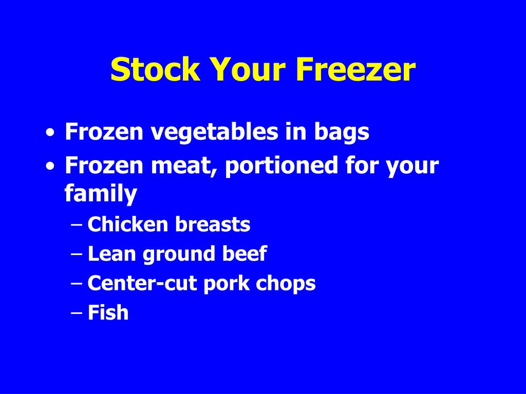 Stock Your Freezer