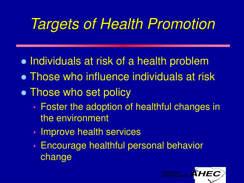 Targets of Health Promotion